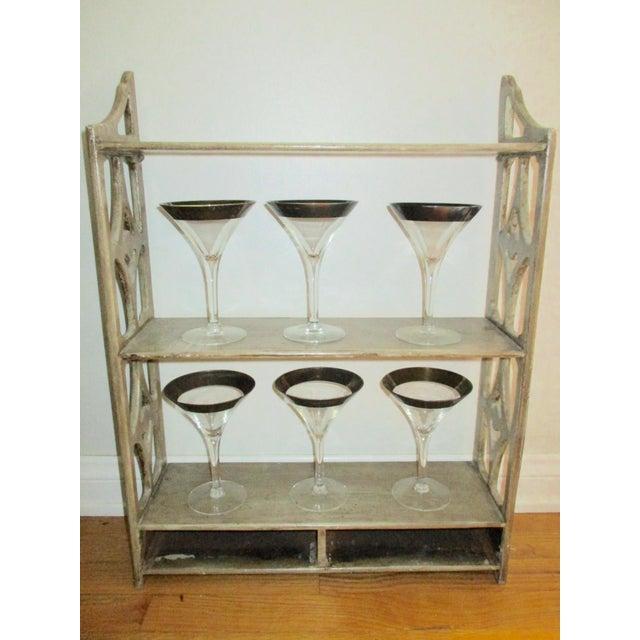 Dorothy Thorpe Silver Rim Champagne Glasses - Set of 6 - Image 5 of 10