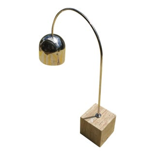 1960s Guzzini Mid-Century Modern Arch Marble Base Desk Lamp For Sale
