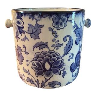 Vintage Losol Ware Blue & White Ceramic Bowl For Sale