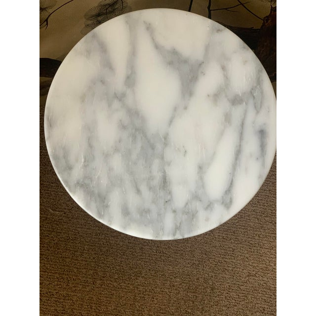 Contemporary 1990s Marble Night Stand For Sale - Image 3 of 5