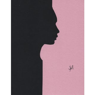 """""""Profile 1 - Pink"""" Minimalist Collage by Sarah Myers For Sale"""