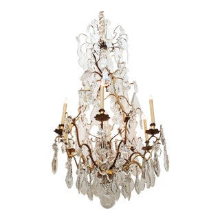 Louis XV Style Gilt Bronze and Crystal Chandelier For Sale