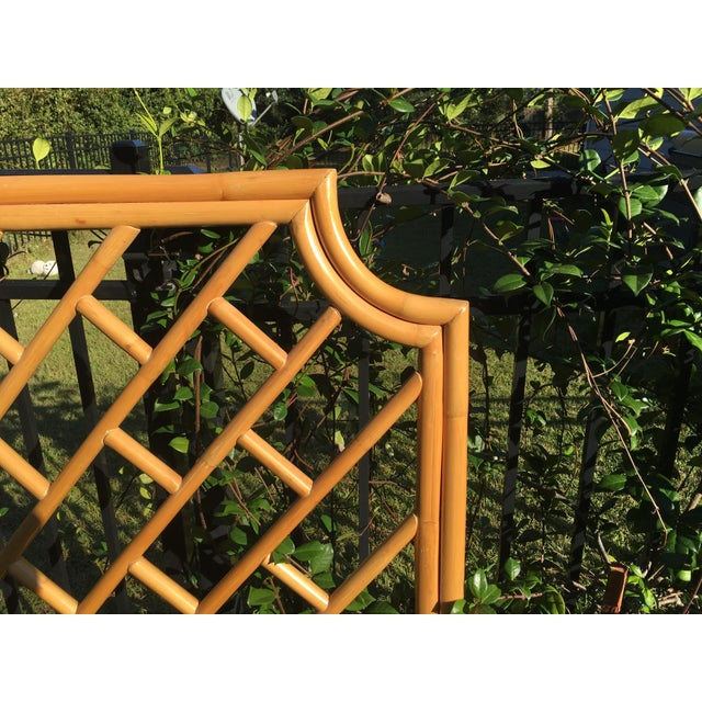 Boho Chic Vintage Authentic Bamboo King Headboard For Sale - Image 3 of 7