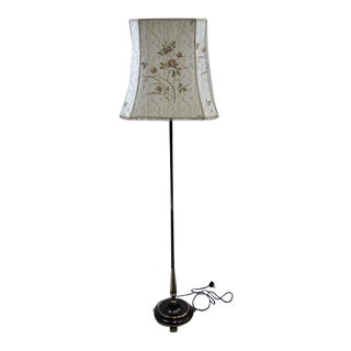 Vintage Claw Feet French Brass Floor Lamp For Sale