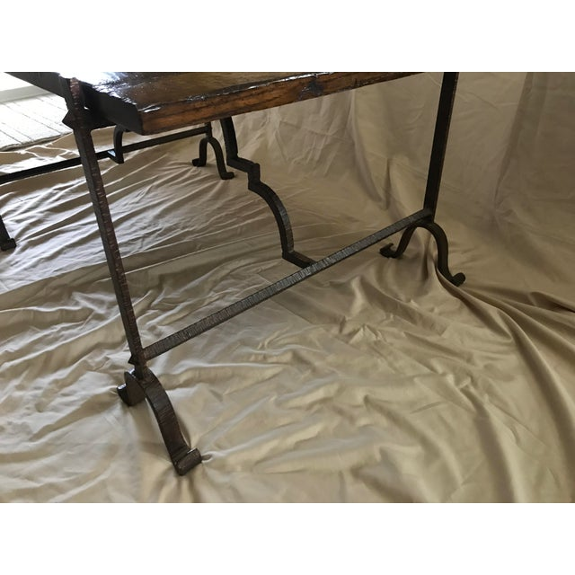 2010s Wood & Iron Coffee Table For Sale - Image 5 of 7