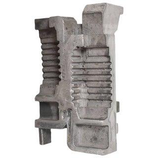 Mid-Century Modern Cast Aluminum Brutalist Sculpture by Myna N Nobile #8 For Sale