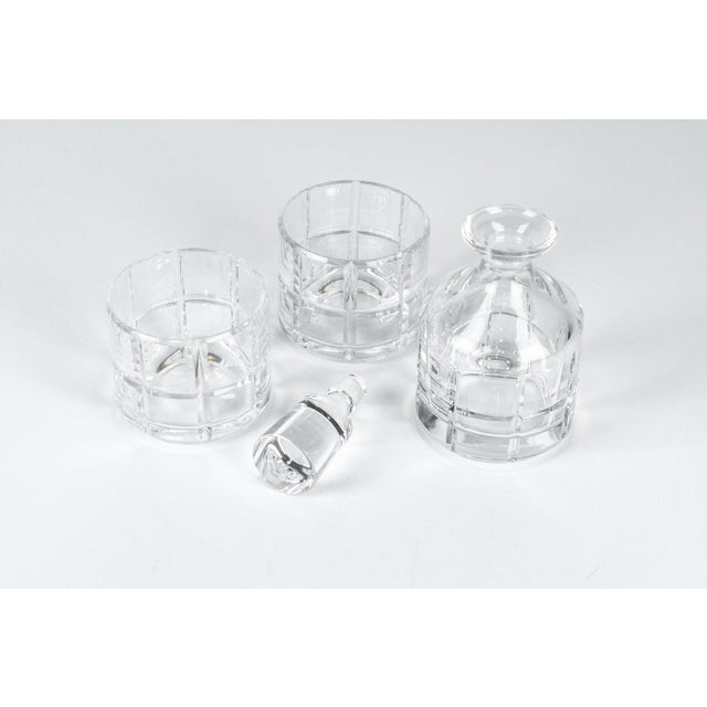 Crystal Cut Crystal Three Pieces Drinks Decanter For Sale - Image 7 of 10