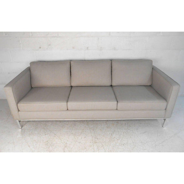 Mid-Century Modern Mid-Century Modern Florence Knoll Style Sofa For Sale - Image 3 of 10