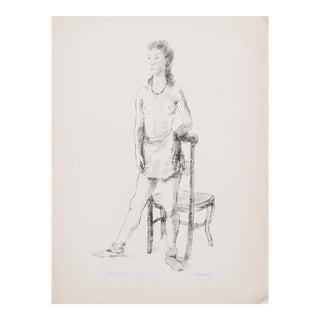 "1939 Alexander Brook ""Young Girl"", Original Period Photogravure For Sale"