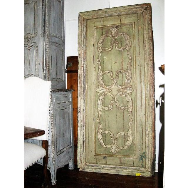 18th Century Louis XVI Painted Panel Door For Sale - Image 4 of 12