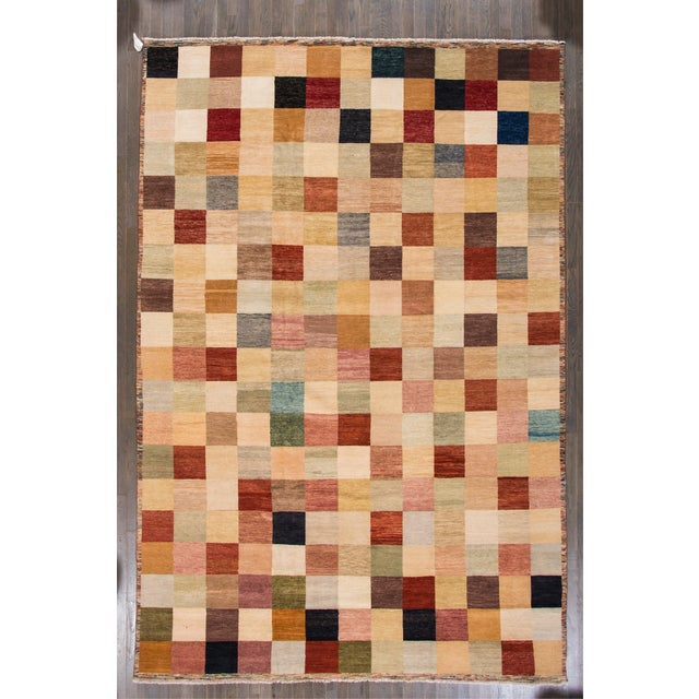 2010s Apadana - Modern Oversize Multicolored Geometric Indian Gabbeh Rug, 10.06x15.06 For Sale - Image 5 of 11