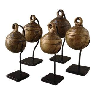 Antique Bronze Bells from Burma - Set of 5 For Sale