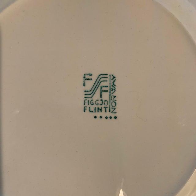 Ceramic Vintage Figgjo Flint Norwegian Small Plates - Set of 6 For Sale - Image 7 of 11