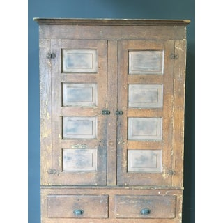 Early 20th Century American Pine Cabinet in Oak Grain Paint Preview