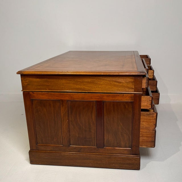Early 20th Century Campaign Mahogany Desk, Denmark Circa 1910 For Sale - Image 5 of 9