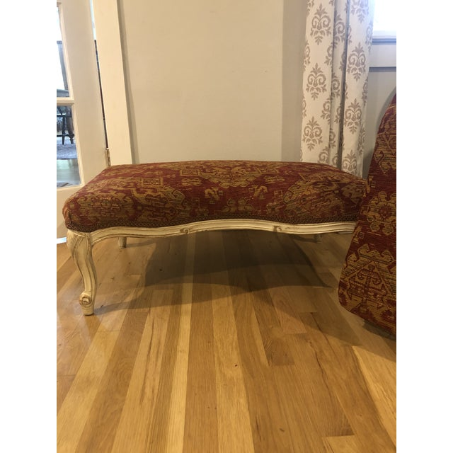 Sam Moore Upholstered Ottoman in Tapestry Fabric For Sale In New Orleans - Image 6 of 11