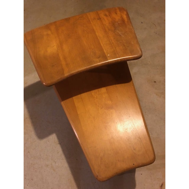 Tan 1950s Vintage Mid-Century Modern Heywood-Wakefield Side Table For Sale - Image 8 of 9