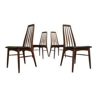 Teak Eva Dining Chairs, Niels Koefoed for Koefoeds Hornslet, Set of 4 For Sale