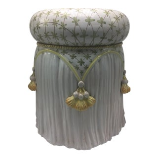 Vintage Italian Tassel Garden Stool For Sale