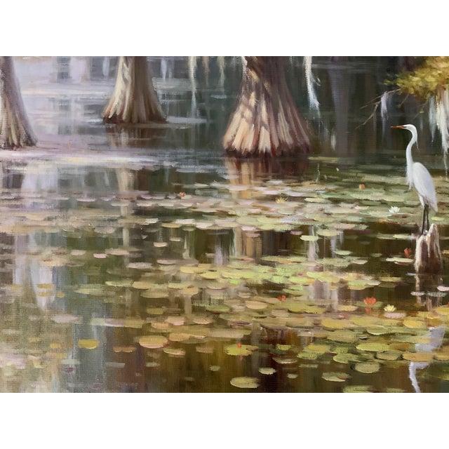 Louisiana Swamp Oil Painting For Sale In Atlanta - Image 6 of 8