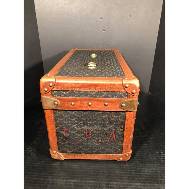 Goyard Jewelry or Valuables Trunk Train Case For Sale - Image 10 of 13