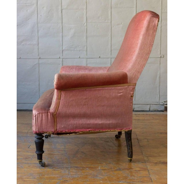 Textile 19th Century French Armchair and Ottoman For Sale - Image 7 of 11