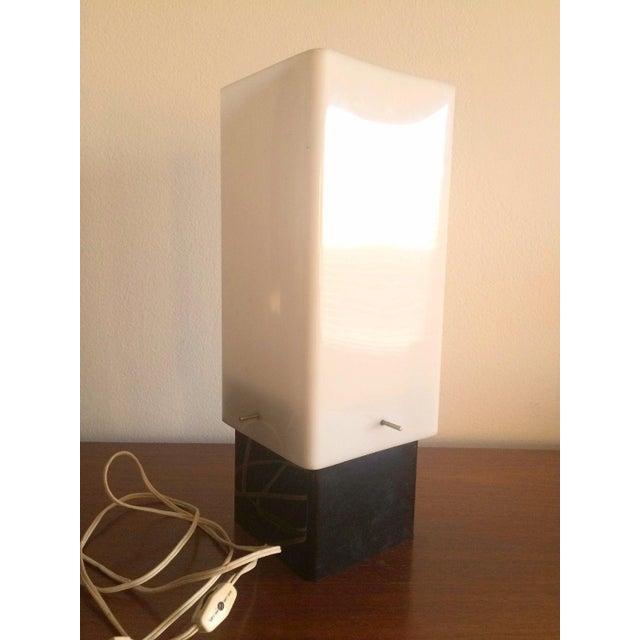 Mid-Century Modern Vintage Mid-Century Plastic Table Lamp For Sale - Image 3 of 5