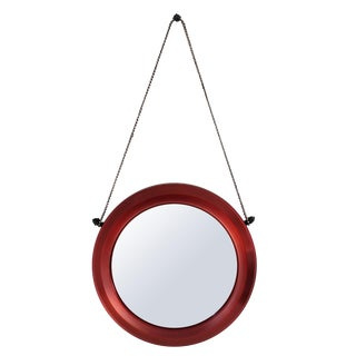 Francisco Raku Red Mirror by Babette Holland Design For Sale