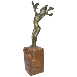 """1966 """"Daphne"""" Bronze Sculpture, Signed on Base For Sale"""