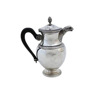 Antique French Art Deco Sterling Silver Teapot Pot