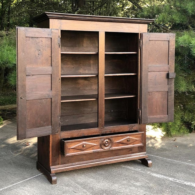 18th Century Rustic Italian Chestnut Armoire For Sale In Baton Rouge - Image 6 of 9
