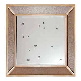 Luna Mirror Beadazzled Flexible Glass Bead Wallcovering For Sale