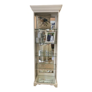 Wood Cabinet Glass Shelves Mirror, Made in England For Sale