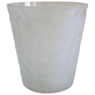 Etched Murano Glass Champagne Bucket by Salviati For Sale