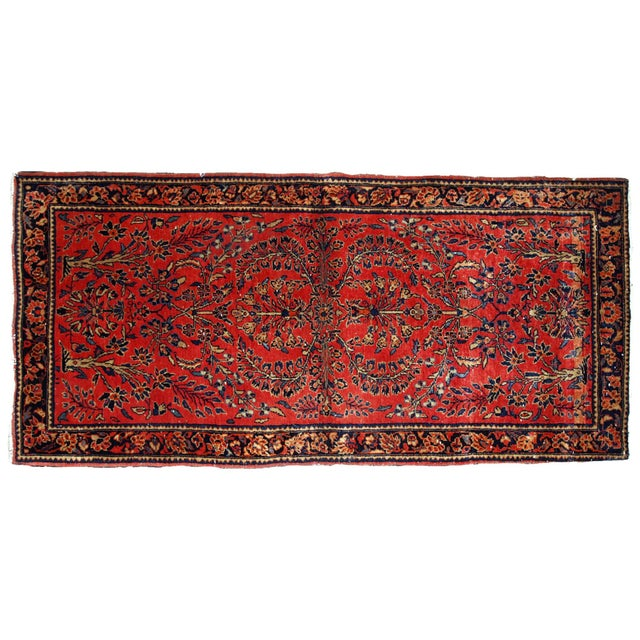1900s, Handmade Antique Persian Sarouk Runner 3.2' X 7.10' For Sale - Image 11 of 12
