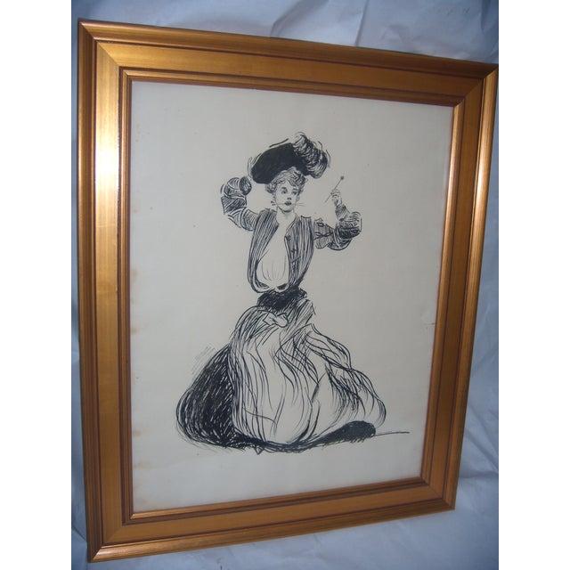 Vintage 1906 Original Drawing by John G Wilson - Image 3 of 7