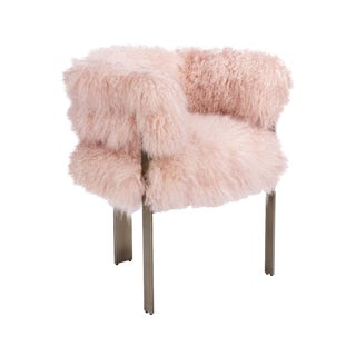Darcy Chair - Blush Sheepskin For Sale