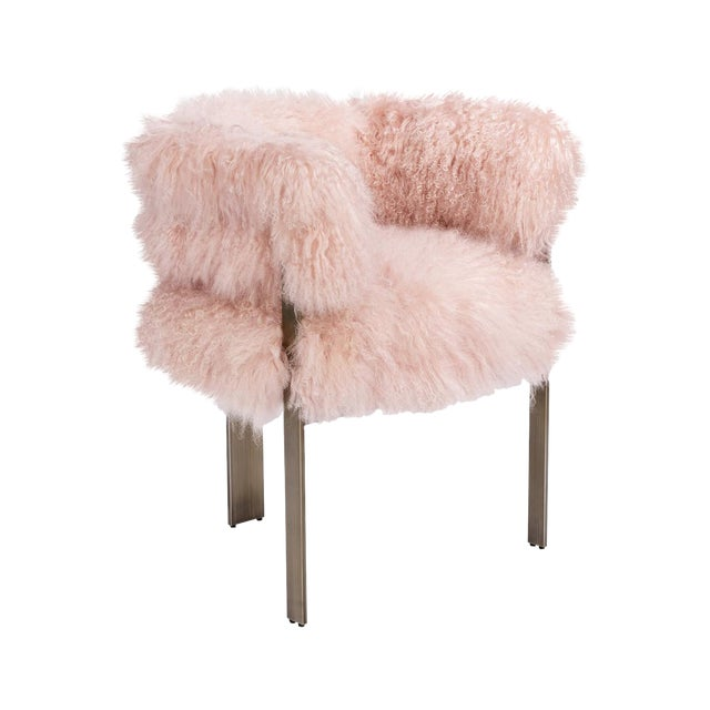 Darcy Chair - Blush Sheepskin For Sale
