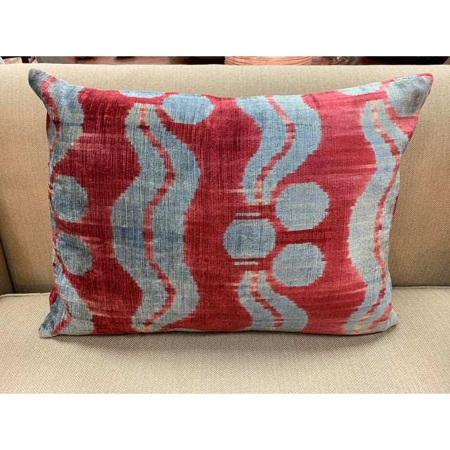 Contemporary Handwoven Cotton Velvet Pillow For Sale - Image 9 of 9