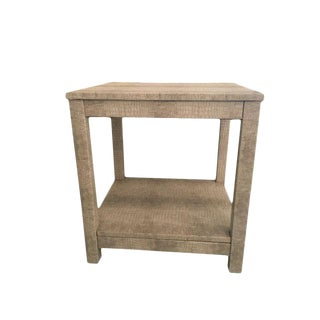 Draper Upholstered End Table For Sale