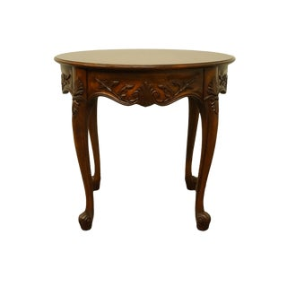 20th Century Queen Anne Cresent Furniture Solid Cherry End Table For Sale