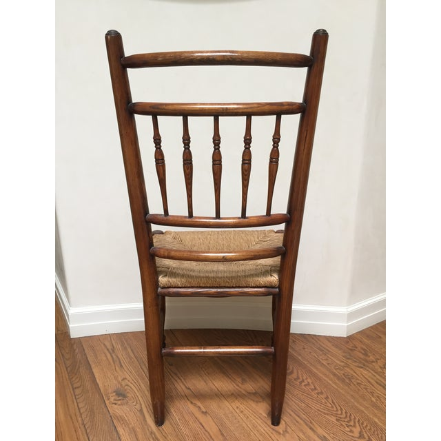 19th Century Americana Side Chair With Rush Seat For Sale - Image 6 of 10