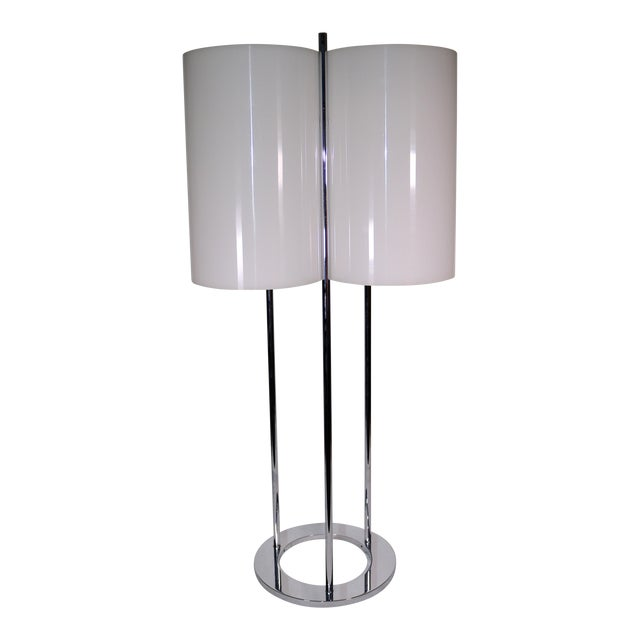 1970s Vintage Paul Mayen Modern Three Light Table Lamp Chairish