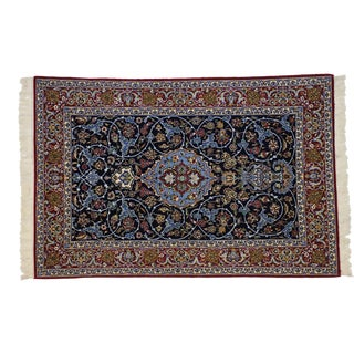 Vintage Persian Isfahan Rug - 03'08 X 05'07 For Sale