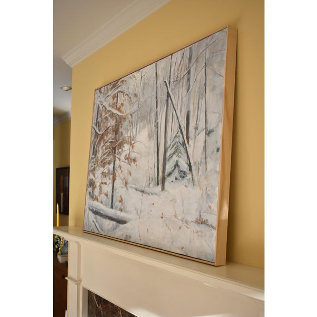 Stephen Remick Snowy Hillside Contemporary Painting For Sale - Image 10 of 13