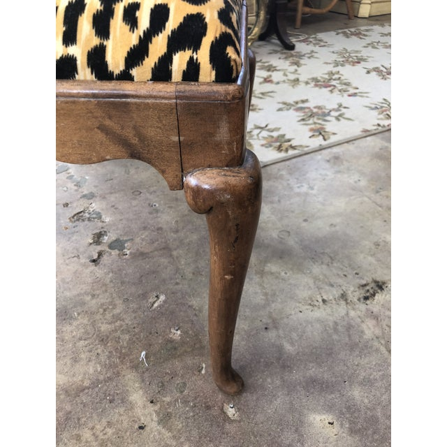 Orange 1910s Traditional Leopard Print Low Stool For Sale - Image 8 of 10