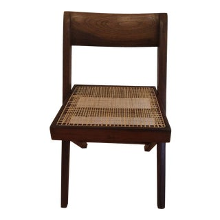 1950s Vintage Pierre Jeanneret Library Chair For Sale