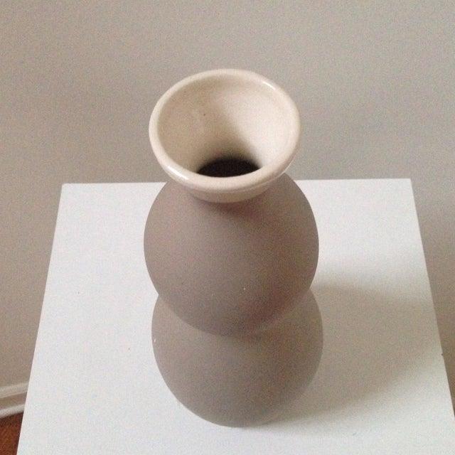 Double Gourd Form Tan Ceramic Vase - Image 7 of 7