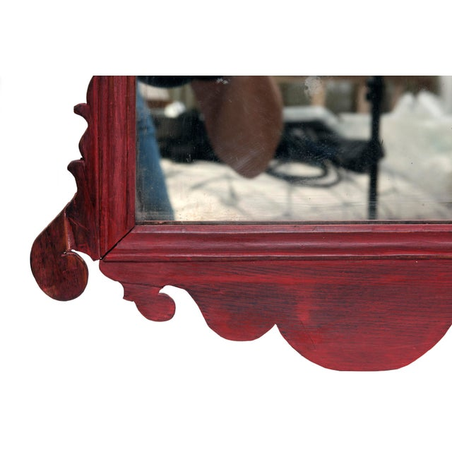 Vintage English Chippendale Mirror For Sale - Image 4 of 5