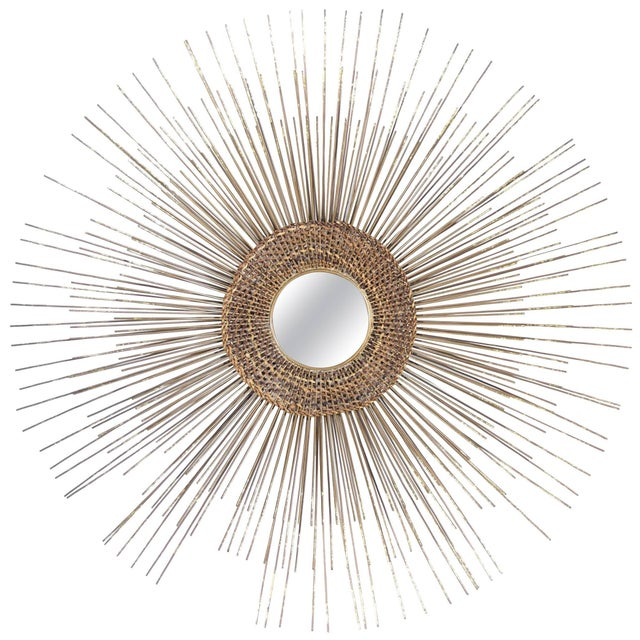 1950s Woven Sunburst Wall Sculpture For Sale - Image 9 of 9